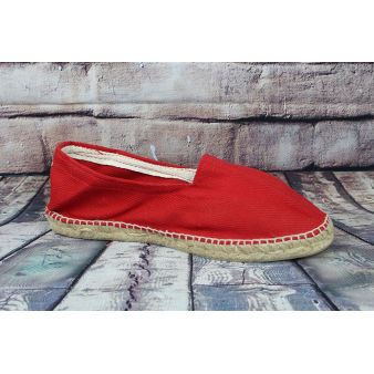Red esparto loafer