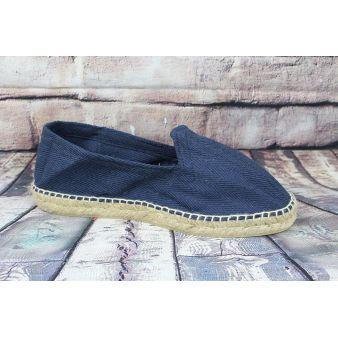 Navy esparto loafer
