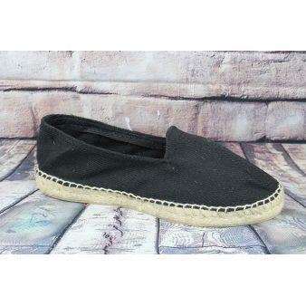 Black esparto loafer