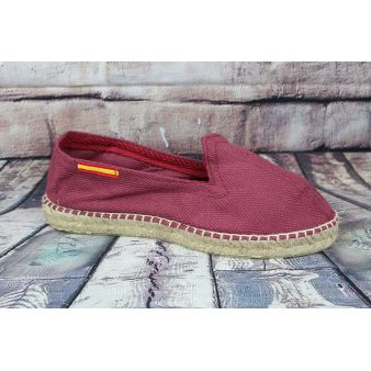 Esparto loafer in burgundy...
