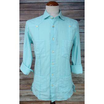 Turquoise Cuban shirt