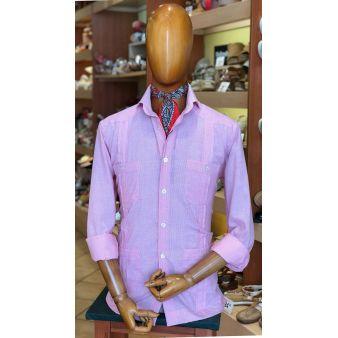 Pink striped Cuban shirt