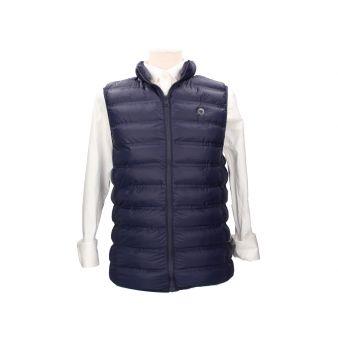 Navy padded waistcoat