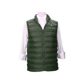 Green padded waistcoat