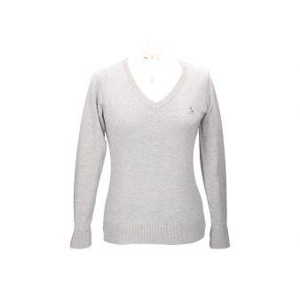 Grey V-neck pullover