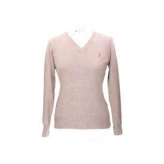 Taupe V-neck pullover