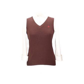 Jersey sin mangas marrón