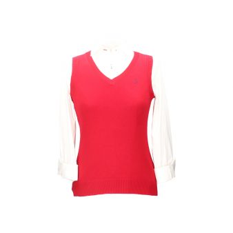 Red sleeveless pullover