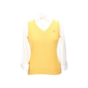 Mustard coloured sleeveless...