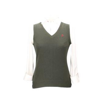 Khaki sleeveless pullover