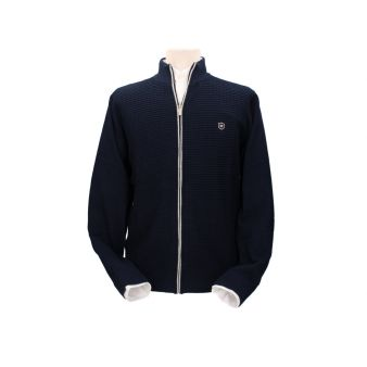 Gentleman's navy blue cardigan