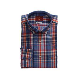 Camisa cuadros azul-multicolor
