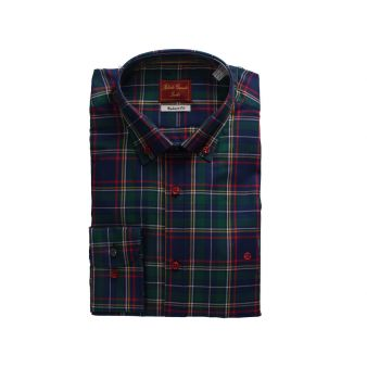 Checked shirt with blue...
