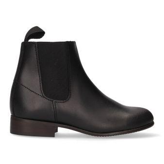 Short boy's black elastic boot