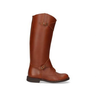 Aged leather polo riding boot