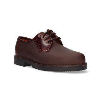 Zapato con cordones marrón