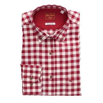 Camisa cuadros Rojo