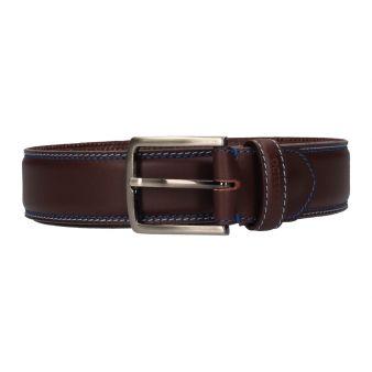 Cinturón marrón pespuntes