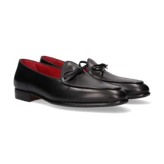 Black boxcalf moccasin with...