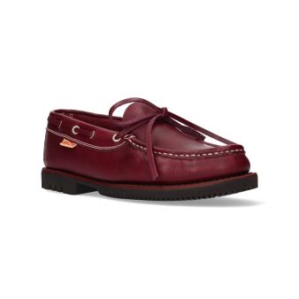 Burgundy Apache shoe with bow