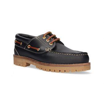 Navy deck shoe