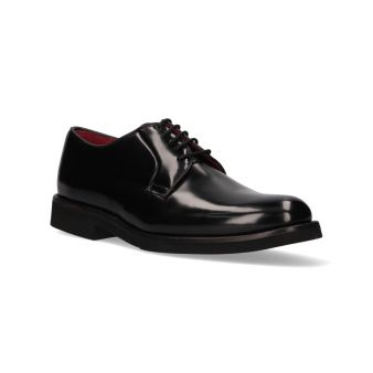 Black leather blucher with...