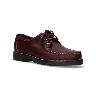 Burgundy lace-up shoe