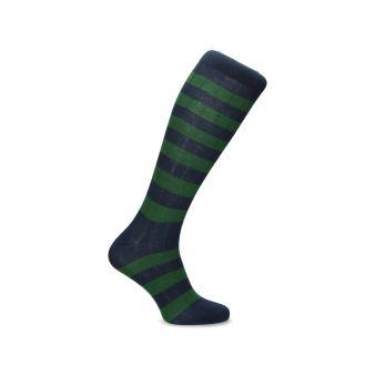 Calceta rayas verde-azul