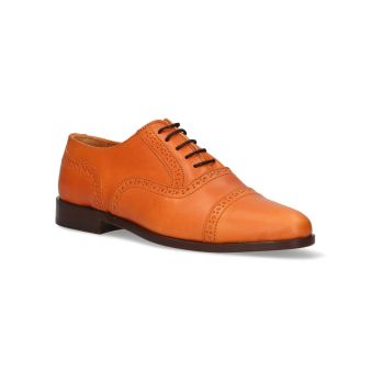 Punched English Leather Shoe