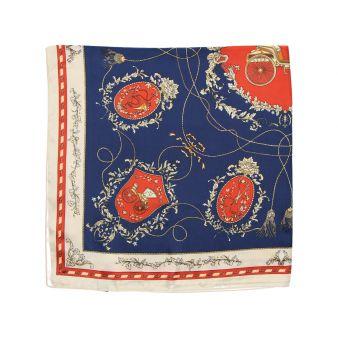Pañuelo azul escudos rojos