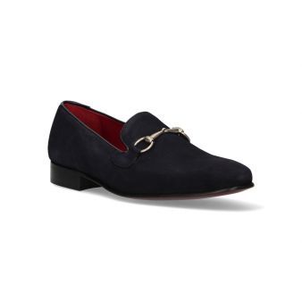 Loafer with tongue, navy...