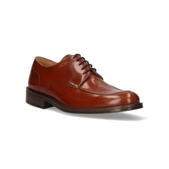 Leather raised contour blucher