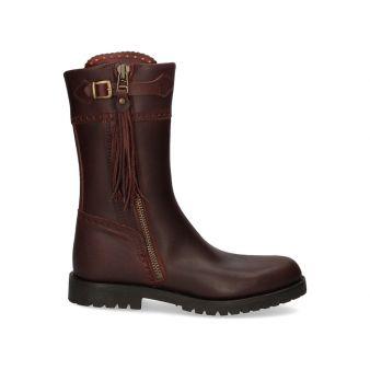 Half-leg calfskin hunting boot