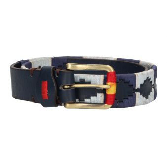 Cinturón azul bordado...