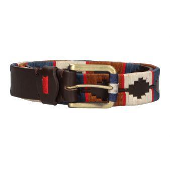 Cinturón marrón bordado...