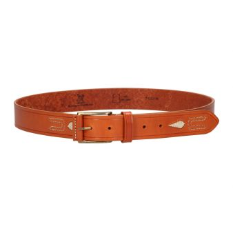 Leather belt with pineapple...