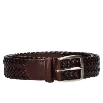 Cinturoón trenzado marrón