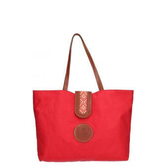 Bolso shopper rojo amazona