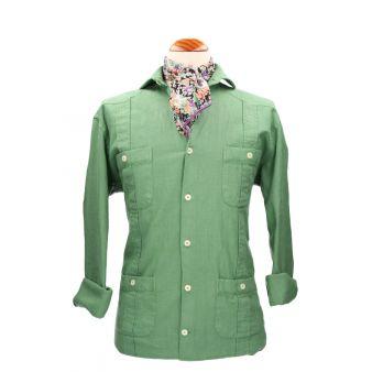 Camisa cubana verde