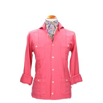 Camisa cubana coral