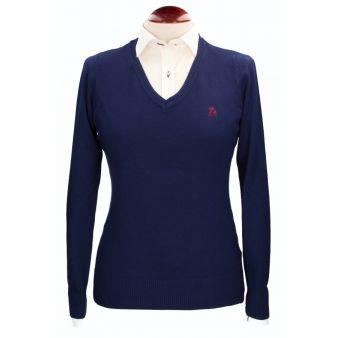 Navy V-neck pullover