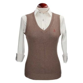 Taupe sleeveless pullover