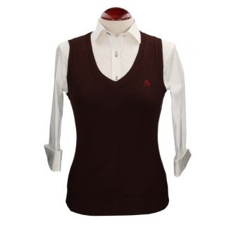 Brown sleeveless pullover
