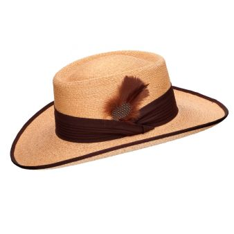 Gambler safari hat camel in...