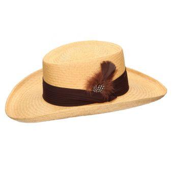 Sombrero gambler camel tira...