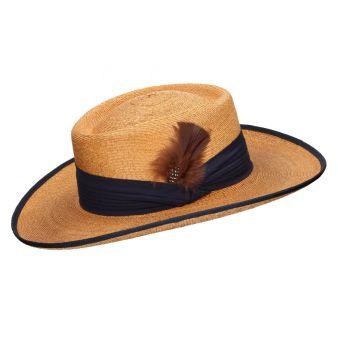 Gambler blue camel safari hat