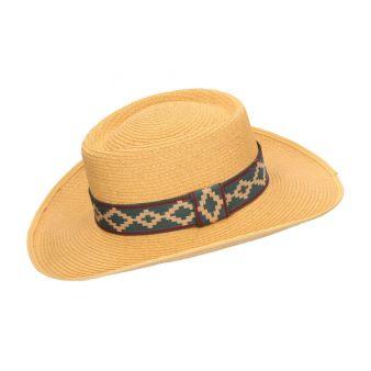 Sombrero fibra camel cinta...