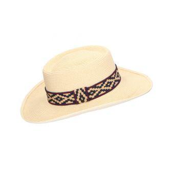 Sombrero fibra champán...