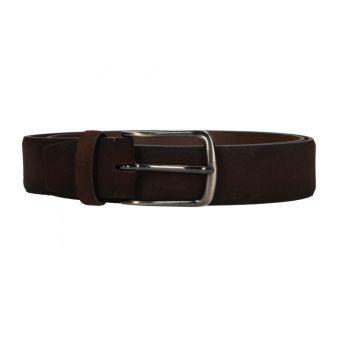Cinturón liso marrón oscuro
