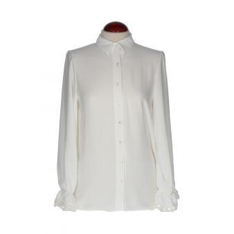 Camisa blanca encaje mangas